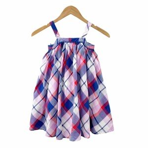 Gap Plaid Pom Pom Dress Size 5 Years